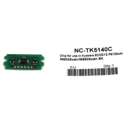 Kyocera Mita TK-5140 Toner Chip Mavi Ecosys M6030-P6130-M6530 (1T02NRCNL0)