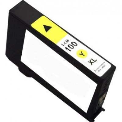 Lexmark (100XL) 14N1071E Sarı Muadil Kartuş Yüksek Kapasiteli