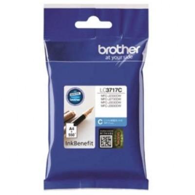 Brother LC3717C Mavi Orjinal Kartuş