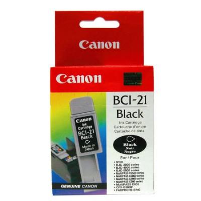 Canon BCI-21 Siyah Orjinal Mürekkep Kartuş