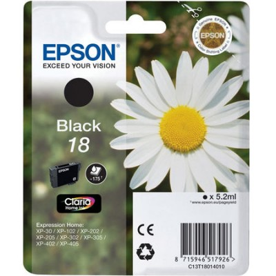 Epson (18-T1801) C13T18014020 Siyah Orjinal Kartuş