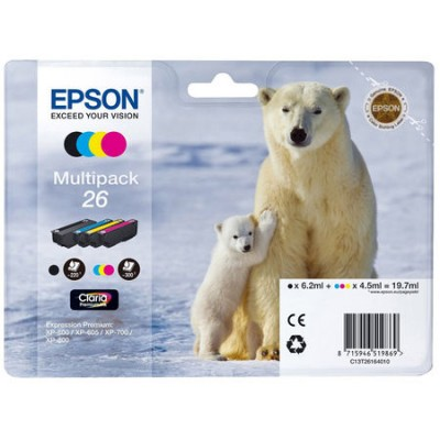Epson (26-T2616) C13T26164020 Orjinal Kartuş Ekonomik Seti