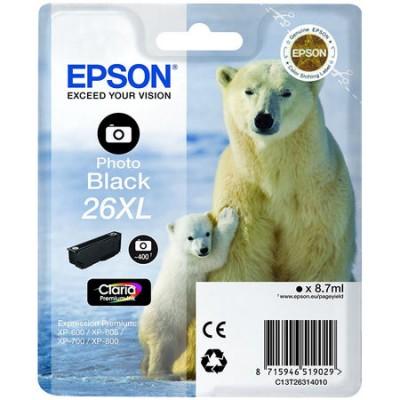 Epson (26XL-T2631) C13T26314020 Foto Siyah Orjinal Kartuş