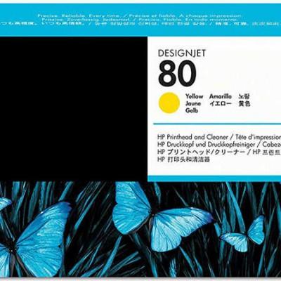 Hp C4823A (80) Sarı Orjinal Baskı Kafası Ve Kafa Temizleyici