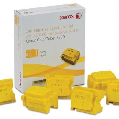 Xerox ColorQube 8900- (108R01024) Sarı Orjinal Katı Mürekkep 6Lı