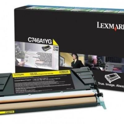 Lexmark (C746) C746A1YG Sarı Orjinal Toner