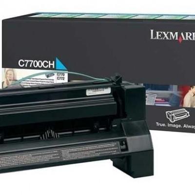 Lexmark (C770) C7700CH Mavi Orjinal Toner Yüksek Kapasiteli
