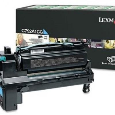 Lexmark (C792) C792A1CG Mavi Orjinal Toner