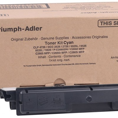 Utax CDC-1626-1726-3726-4726 / Triumph Adler DCC-5526-6526 Orjinal Mavi Toner