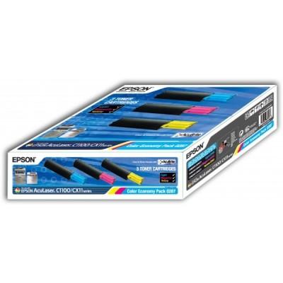 Epson C1100/CX11 (0287) Renkli Orjinal Multi Paket Toner